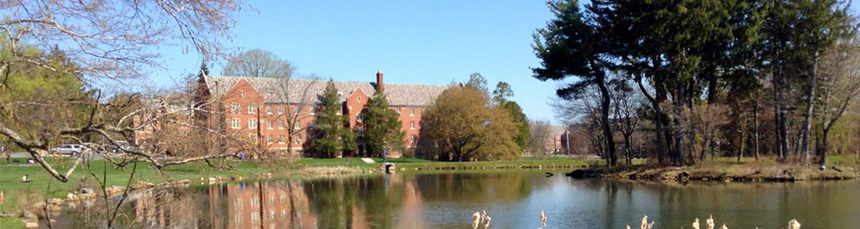 Manchester hall over lake